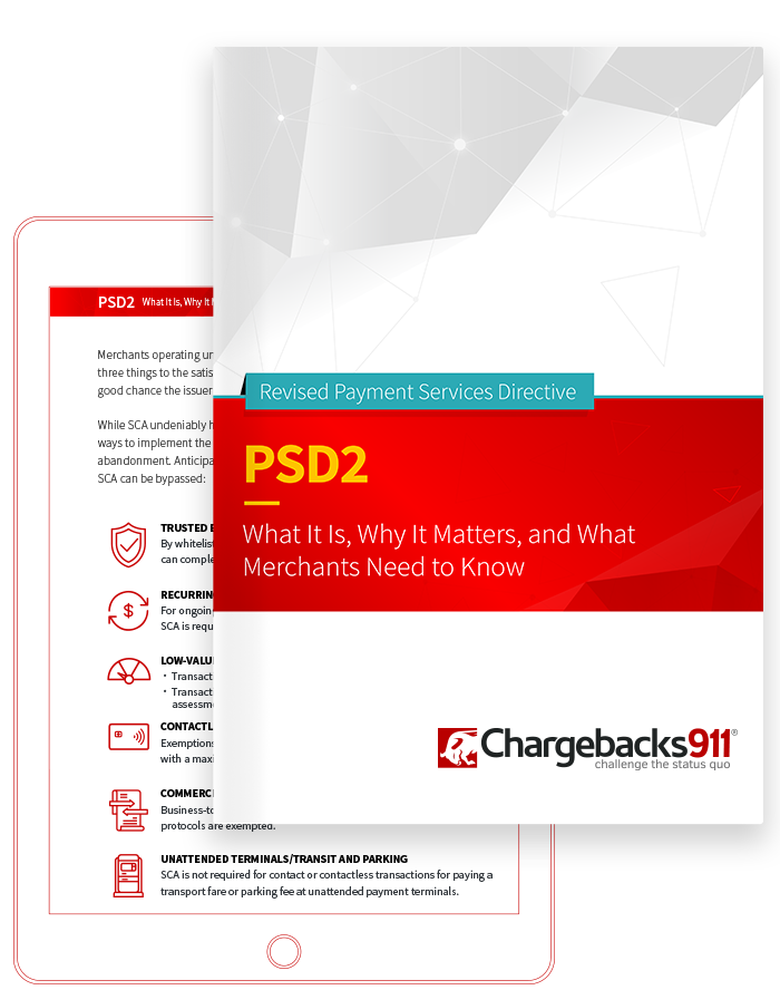 Chargebacks911 eBook - PSD2: What It Is, Why It Matters, and What Merchants Need to Know