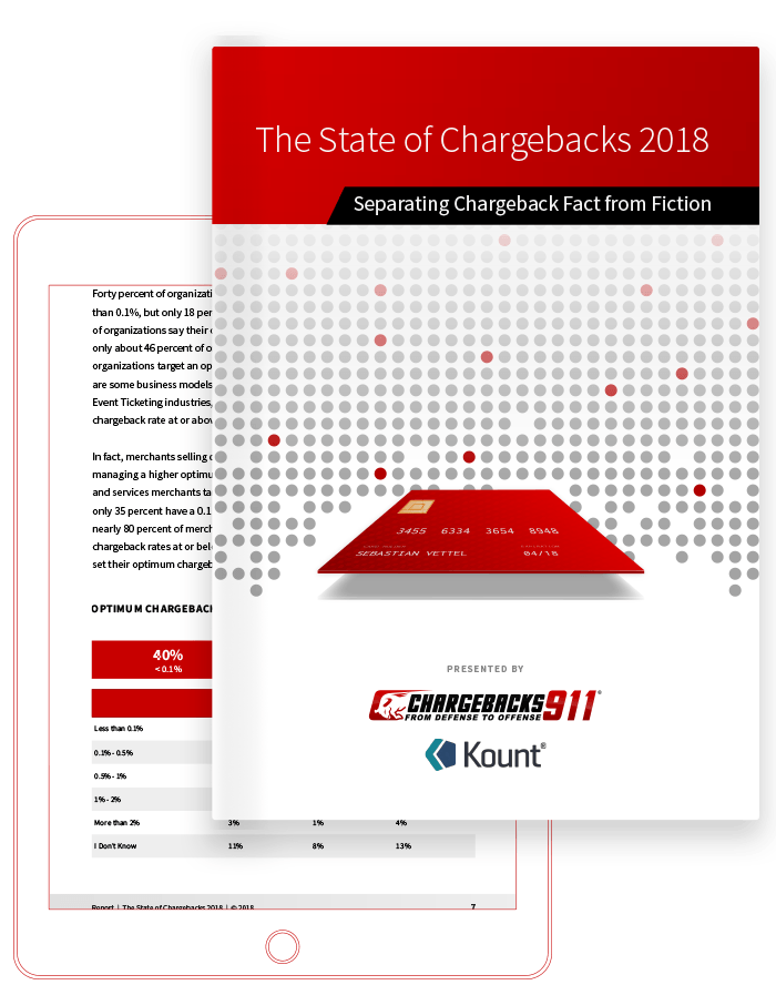 Chargebacks911 eBook - The State of Chargebacks 2018 - Chargebacks911 & Kount